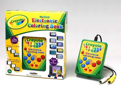 Electronics Game : Crayola  My First Electronic Coloring Book 0